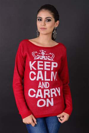 Blusa Jacquard Keep Calm