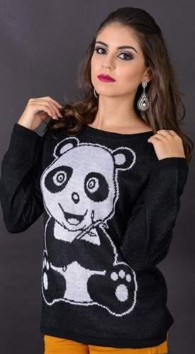 Blusa Jacquard Panda