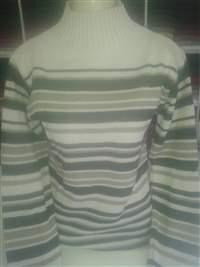 Blusa Gola Baixa Listada